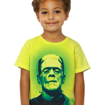 Kids Popart Frankenstein Monster Yellow And Green