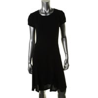 BOSS Hugo Boss Womens Dulena Seamed Short Sleeves Wear to Work Dress