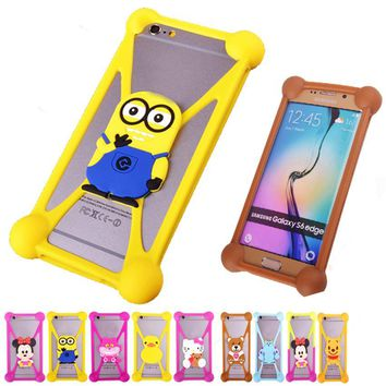 3D Cute Cartoon TPU Cell Phone Cases For LG Optimus L7II 2 P710 P715 G3 G2 Rubber Minions Anti knock Phone Case Cover Accesories