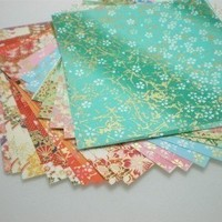 Washi Chiyogami Paper Pack for Traditional Japanese Origami Paper Project- 20 sheets