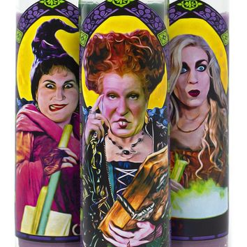 Hocus Pocus Saint Prayer Candles - Choose Your Favorite Sanderson Sister! - PRE-ORDER, SHIPS IN FEBRUARY