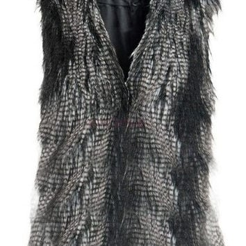Women's Faux Fur Vest Gilet Sleeveless Coat Outerwear Waistcoat Women's Sweater = 1931819268