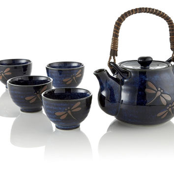 Midnight Dragonfly Blue Teapot Set at Teavana | Teavana