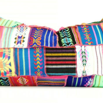 Long Bolster Pillows, Colorful Pillow, Bohemian Decor, Boho Bedding, Tribal Pillow, Black Friday Etsy, Cyber Monday Etsy
