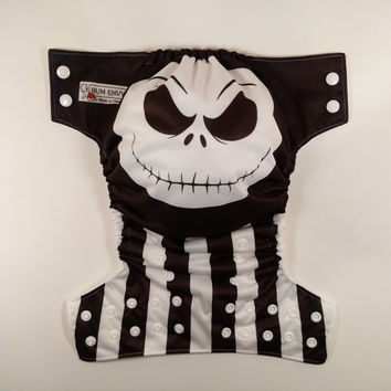 Jack Skellington Inspired Cloth Diaper