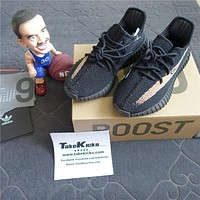 Original Adidas YEEZY BOOST 350 V2 KANYE WEST CORE BLACK COPPER METAL NMD BY1605