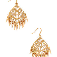 FOREVER 21 Filigree Chandelier Earrings Gold One