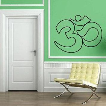 Yoga Symbol Om Sanskrit Spiritual Mind Decor Wall MURAL Vinyl Art Sticker Unique Gift M584