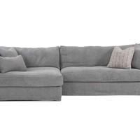 Bradley Linen Sectional, Gray, Sectionals