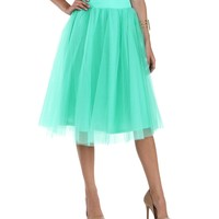 Sale-mint Tulle Darling Party Skirt