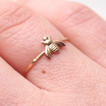 $25.00 Little Bee Ring by proteales on Etsy