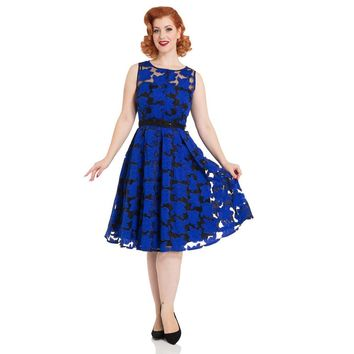 Evelyn Blue Floral Dress