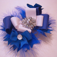 Royal Blue Beauty Boutique Bow