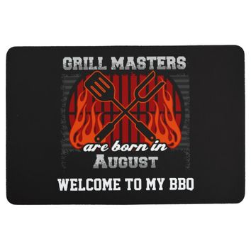 Grill Masters Are Born In August Personalized Floor Mat