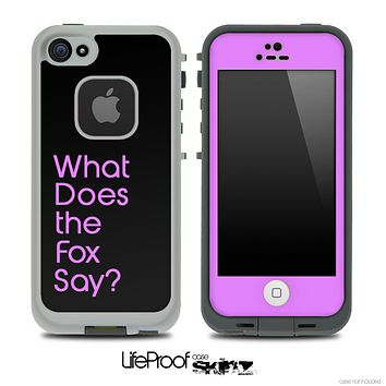 Black and Hot Purple What Does The Fox Say Skin for the iPhone 5 or 4/4s LifeProof Case