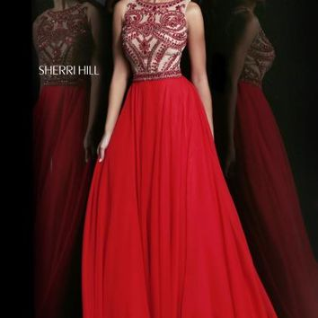 2014 Sherri Hill Red A Line Homecoming Dress 11146