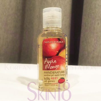Nature Republic hand and nature hand sanitizer - Apple Mango  *exp.date 06.18*