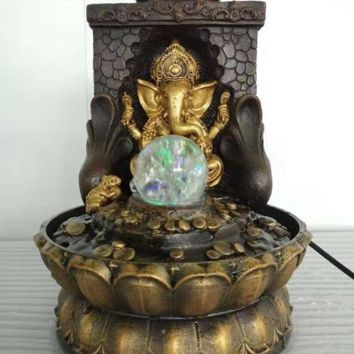Ganesha  Water Fountain & Statue For Home Decor