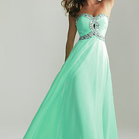 Empire Waist Prom Gown by Night Moves