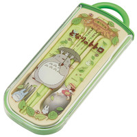 Food washing machines for sliding trio set (chopsticks and spoon and fork) walk and my Neighbor Totoro Studio Ghibli lunch supplies