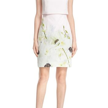 Ted Baker London 'Sneha - Pearly Petals' Popover Bodice Sheath Dress | Nordstrom