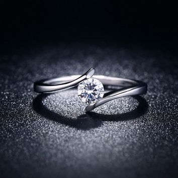 "ON SALE - ""Only You"" Floating Tension Set .5 CT Simulated Diamond Ring"