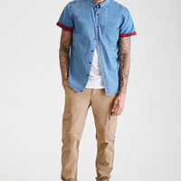 Cuffed Chambray Shirt
