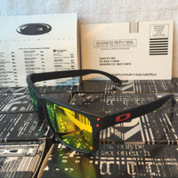 SUNGLASSES POLARIZED! OAKLEY!HOLBROOK Matte Black Fire Custom IRIDIUM