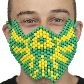 Tomorrowland Green Yellow Music Festival edc Full Kandi Mask