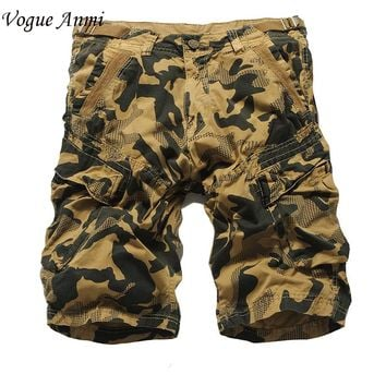 Vogue Anmi.Summer Men Casual Shorts Men fashion Camo Cargo Shorts Military Camouflage Shorts Men Shorts Big Size 36 38 40 42