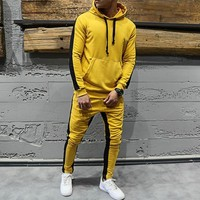 Yellow Hooded Tracksuit