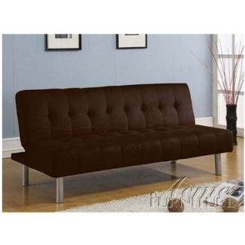 Adjustable Chocolate Microfiber Futon Sofa Bed