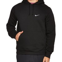 Nike Men's Classic Club Swoosh Pullover Hoodie-Black-Large