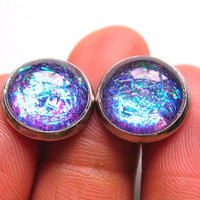 Be Dazzling  Purple blue Shimmer Post Stud by StudioLaTouche