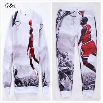 2016 M-3XL 4XL Plus size New Full Sleeve men print hip hop jordan 23# Hoodies sweatshi