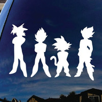 "Dragon Ball Z DBZ Car Window Vinyl Decal Sticker 5"" Wide"