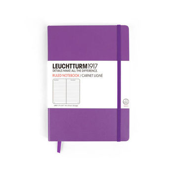 LEUCHTTURM1917 LAVENDER LARGE HARD COVER NOTEBOOK LINED