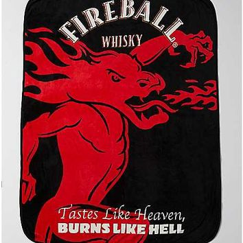 Fireball Whisky Fleece Blanket - Spencer's