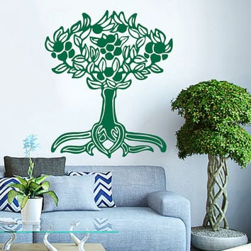 Tree And Roots Vinyl Decals Wall Sticker Art Design Living Room Modern Stylish Bedroom Nice Picture Home Decor Hall  Interior ki681