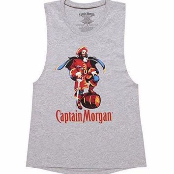 CAPTAIN MORGAN Girls Muscle Tank Top T-Shirt NWT Licensed & Official
