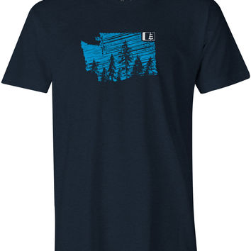 Evergreen WA T-Shirt Midnight Navy Heather