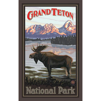 Grand Teton National Park Wood Sign