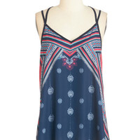 ModCloth Boho Mid-length Spaghetti Straps Energizing Outing Top