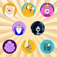 Adventure Time Set of 8 - 1 Inch Pinback Buttons