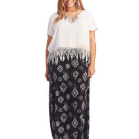 Super Soft Tribal Print Maxi Skirt | Wet Seal