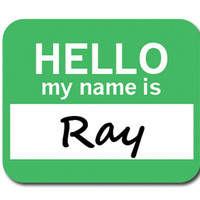 Ray Hello My Name Is Mouse Pad
