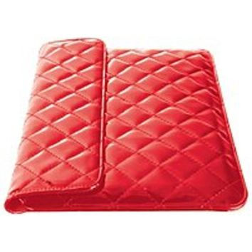 FS iEssentials IE-QLT-10RD Universal Carrying Case for 10-inch Tablet - Red - Quilted