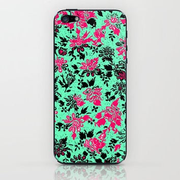 Vintage Wallpaper iPhone & iPod Skin by lush tart | Society6