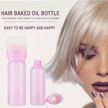 120ml Hair Dye Bottles Applicator Comb Brush Dispenser Kit Scale Squeeze Bottle Hair Solon Home Coloring Dyeing Use Cheap