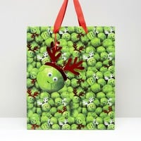 Paperchase Christmas Sprouts With Antlers Large Gift Bag